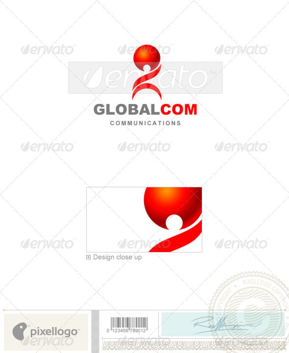 Communications Logo - 1089 - Vector Abstract
