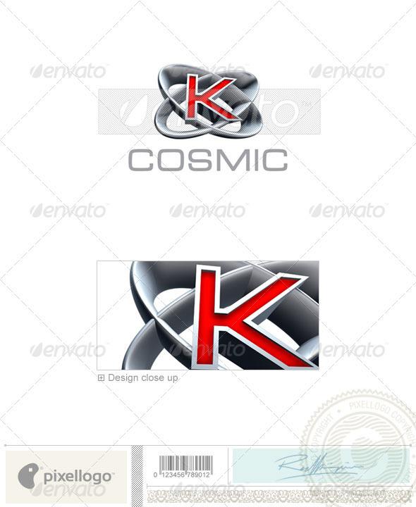 K Logo - 3D-348-K - Letters Logo Templates