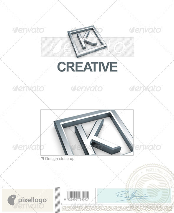 K Logo - 3D-295-K - Letters Logo Templates