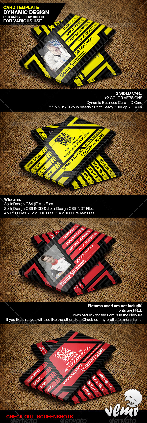 Dynamic Business / ID Card - Creative Business Cards