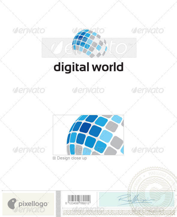 Technology Logo - 2169 - Vector Abstract
