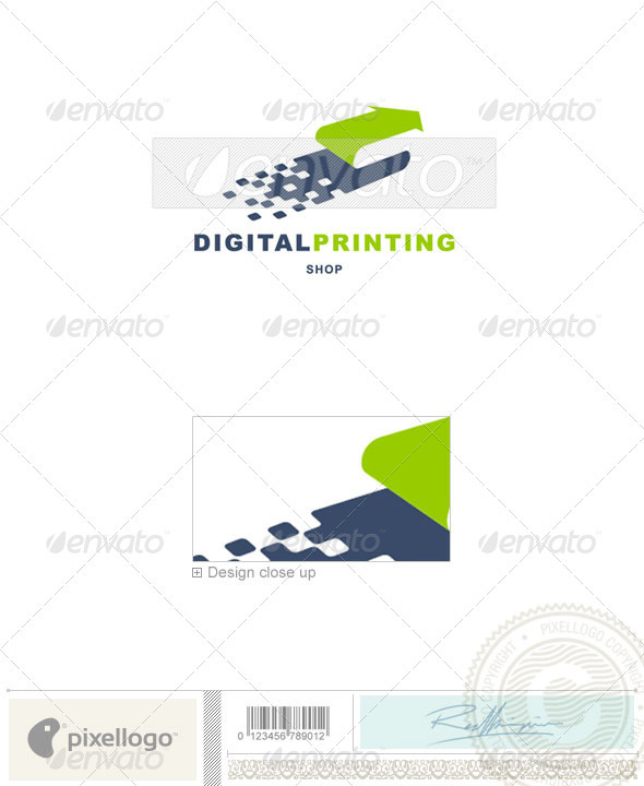 Print & Design Logo - 531 - Vector Abstract