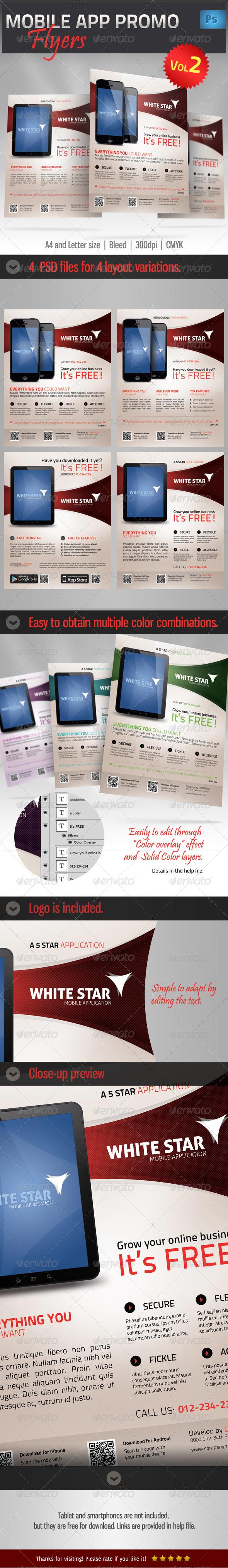 Mobile App Promotion Flyer vol2 - Commerce Flyers