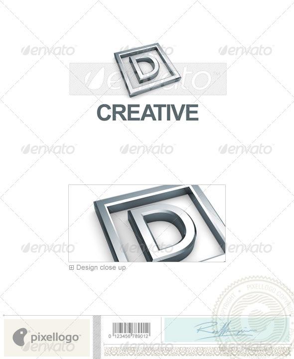D Logo - 3D-295-D - Letters Logo Templates