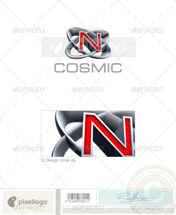 N Logo - 3D-348-N - Letters Logo Templates