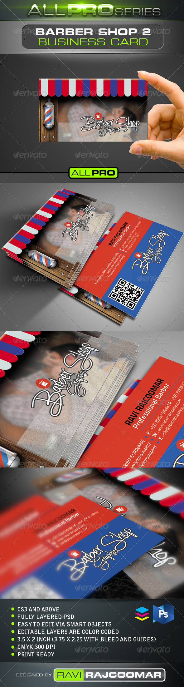 The Barbershop Business Card Vol.2 - Industry Specific Business Cards