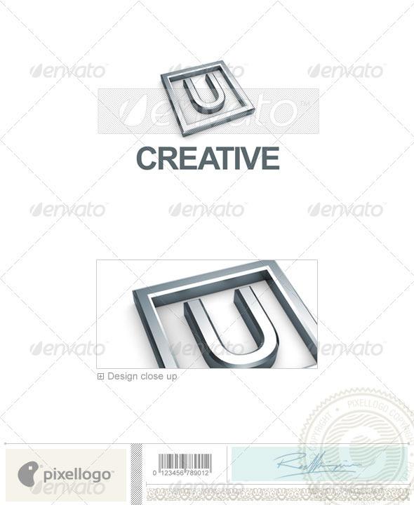 U Logo - 3D-295-U - Letters Logo Templates