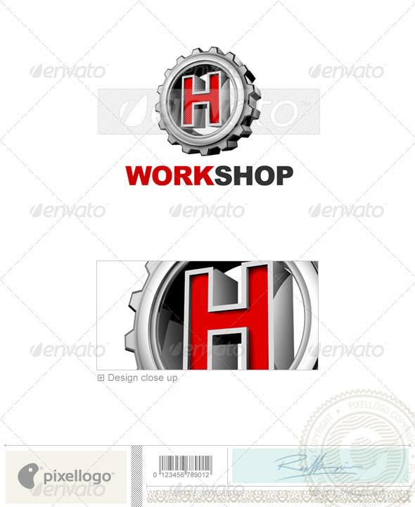 H Logo - 3D-292-H - Letters Logo Templates