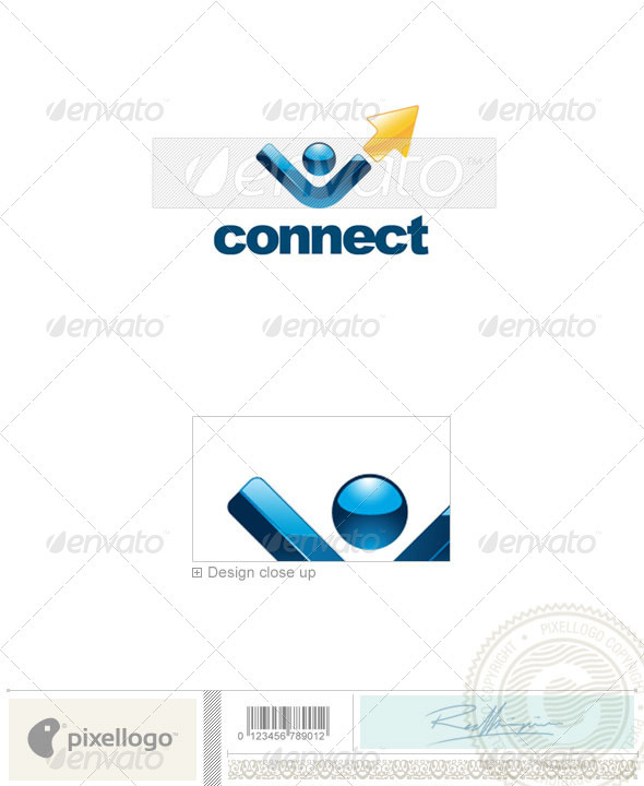 Communications Logo - 2149 - Vector Abstract