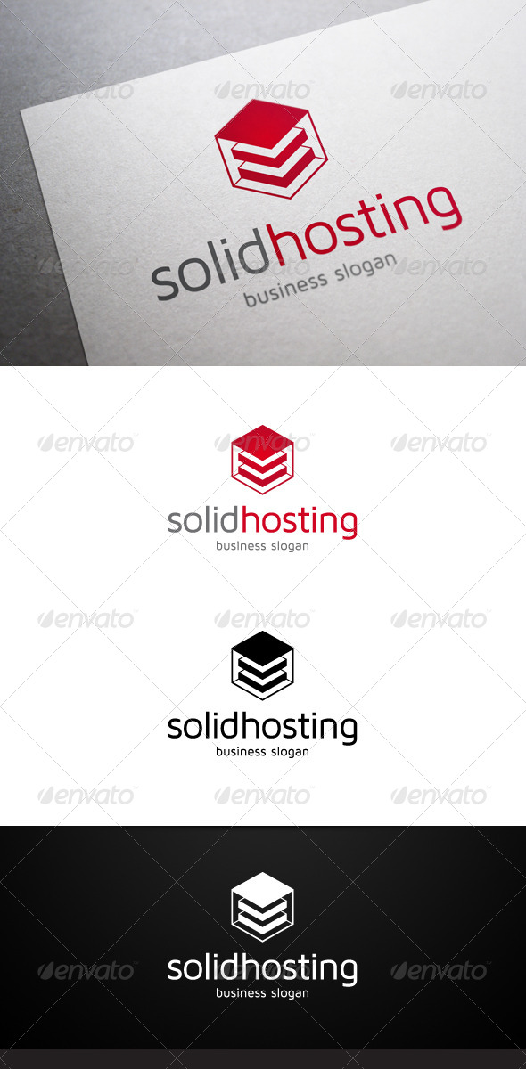 Solid Hosting Logo - Objects Logo Templates