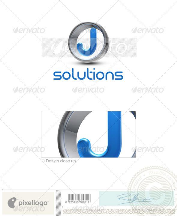 J Logo - 3D-288-J - Letters Logo Templates