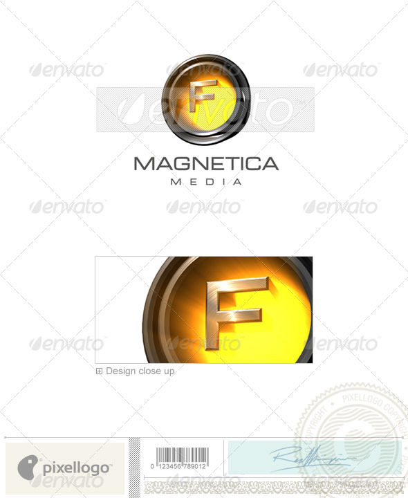 F Logo - 3D-238-F - Letters Logo Templates