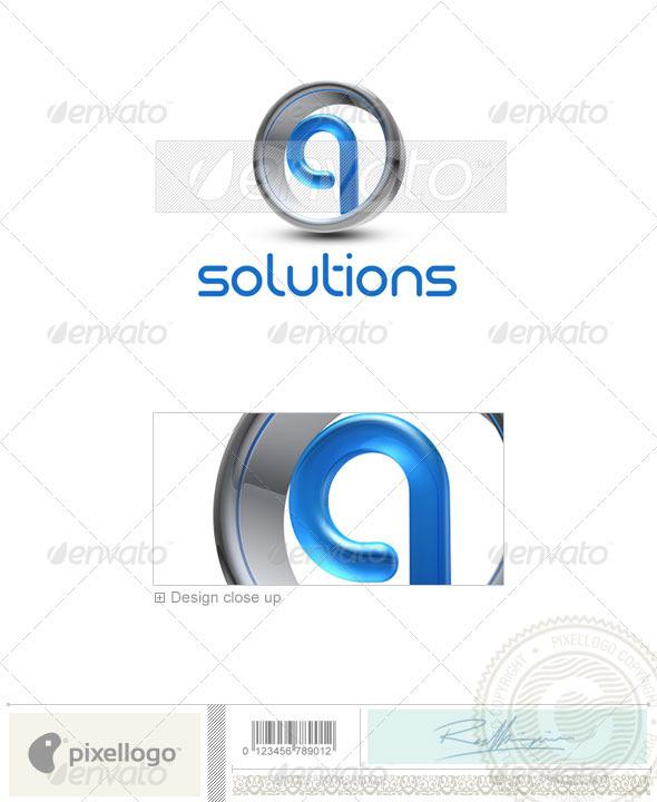 Q Logo - 3D-288-Q - Letters Logo Templates