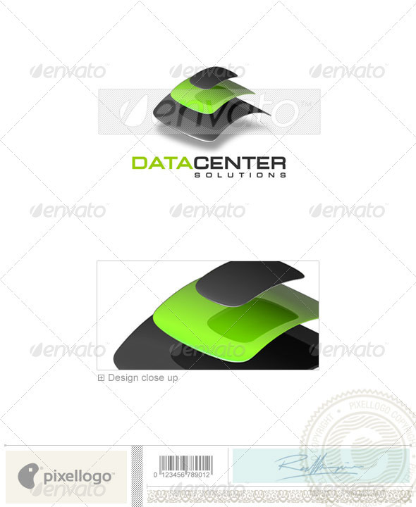 Technology Logo - 3D-128 - 3d Abstract