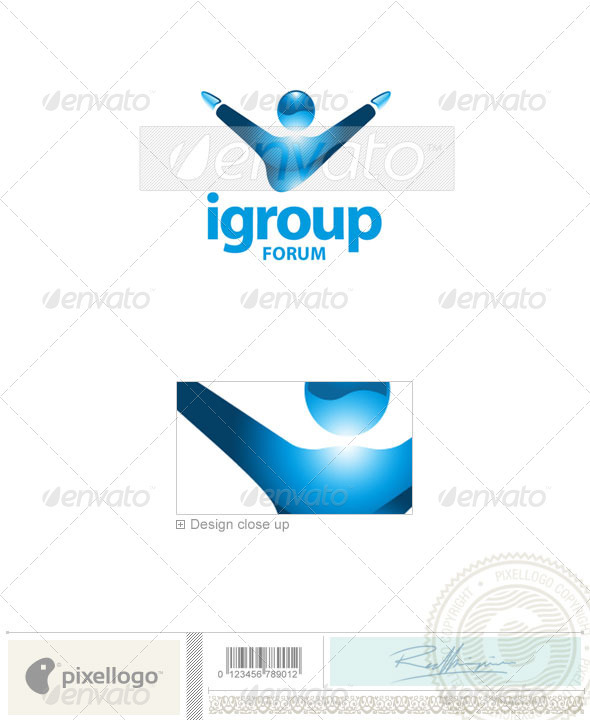 Business & Finance Logo - 1740 - Humans Logo Templates