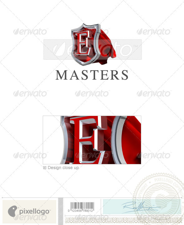 E Logo - 3D-259-E - Letters Logo Templates