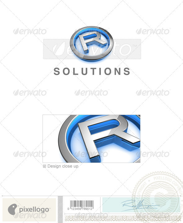 R Logo - 3D-683-R - Letters Logo Templates