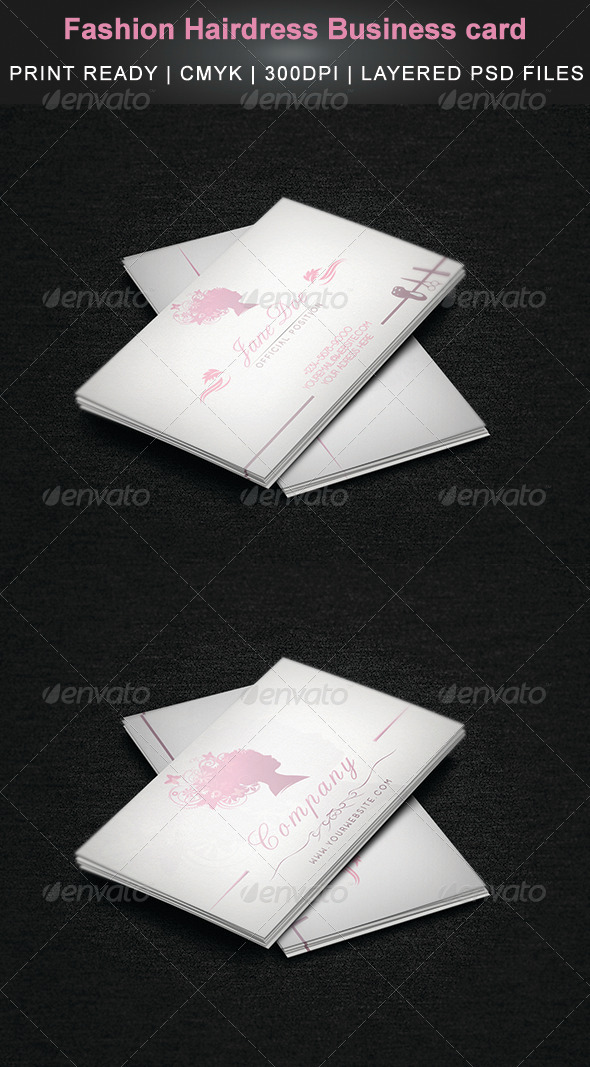 Fashion Hairdress Business card - Business Cards Print Templates
