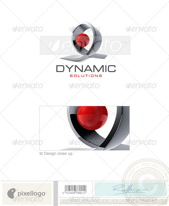 Technology Logo - 3D-464 - 3d Abstract