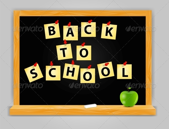 Back to School Vector Background - Web Technology