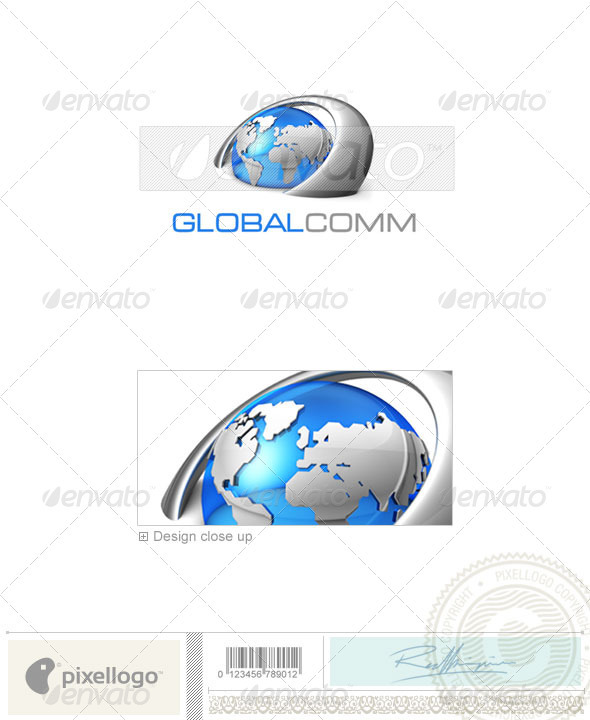 Communications Logo - 3D-347 - 3d Abstract