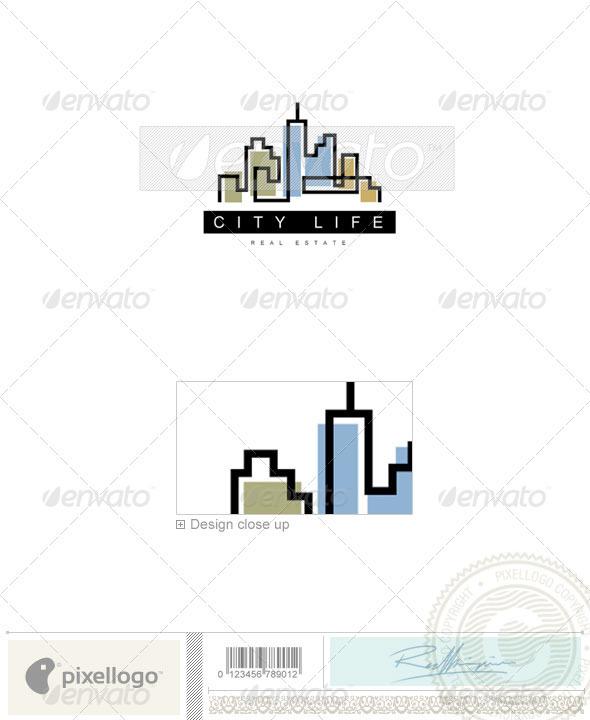 Home & Office Logo - 600 - Buildings Logo Templates