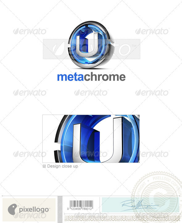U Logo - 3D-476-U - Letters Logo Templates
