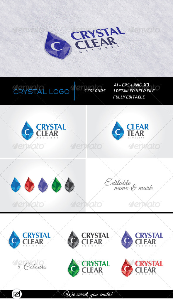 Crystal Logo Template - Logo Templates