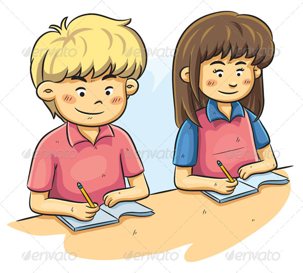 Kids Studying - People Characters