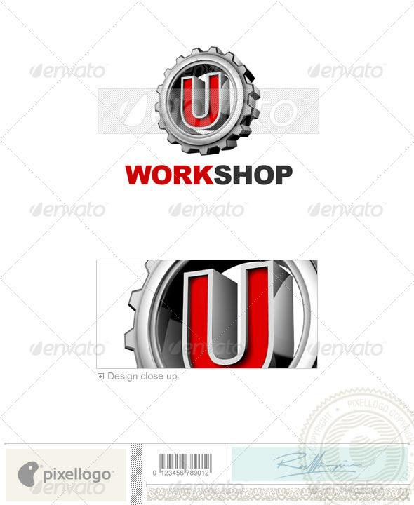 U Logo - 3D-292-U - Letters Logo Templates