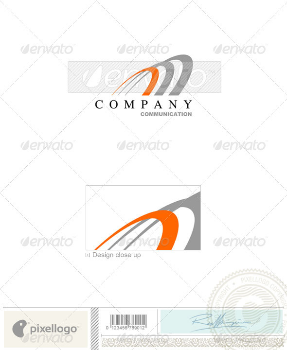 Communications Logo - 215 - Vector Abstract