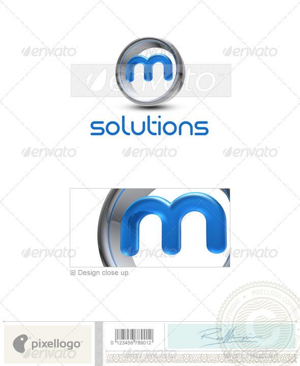 M Logo - 3D-288-M - Letters Logo Templates