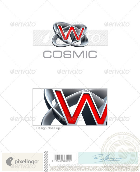 W Logo - 3D-348-W - Letters Logo Templates