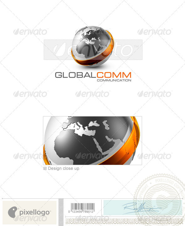 Communications Logo - 3D-479 - 3d Abstract