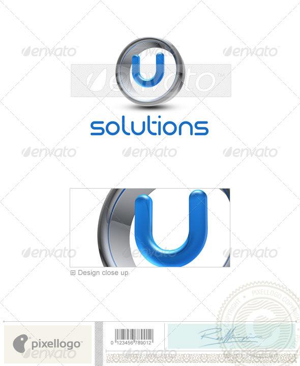 U Logo - 3D-288-U - Letters Logo Templates