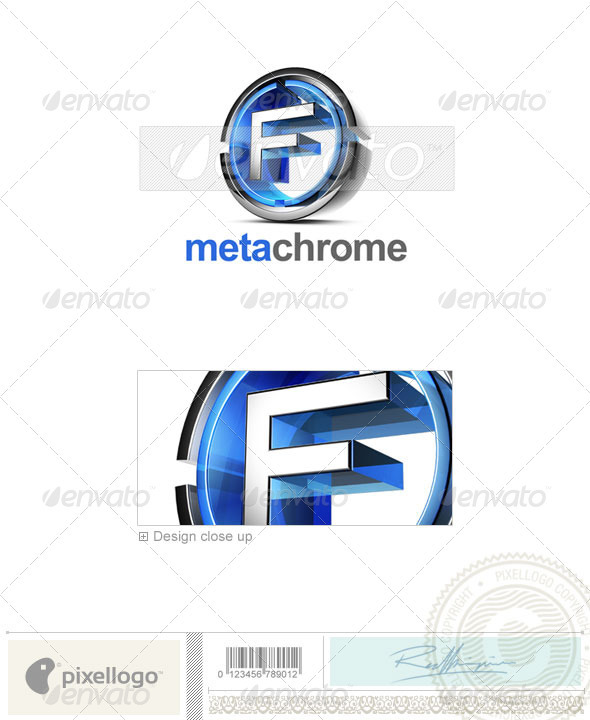 F Logo - 3D-476-F - Letters Logo Templates