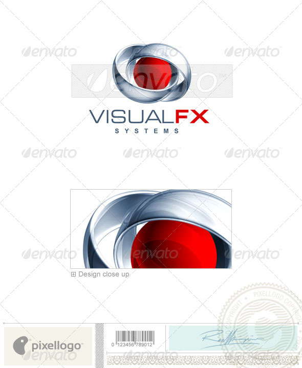Technology Logo - 3D-388 - 3d Abstract