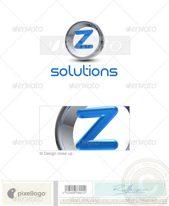 Z Logo - 3D-288-Z - Letters Logo Templates