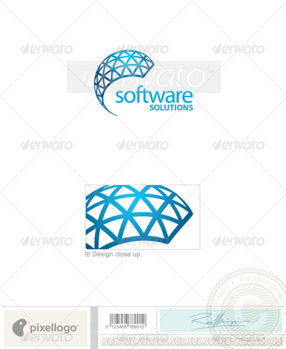 Technology Logo - 2071 - Vector Abstract
