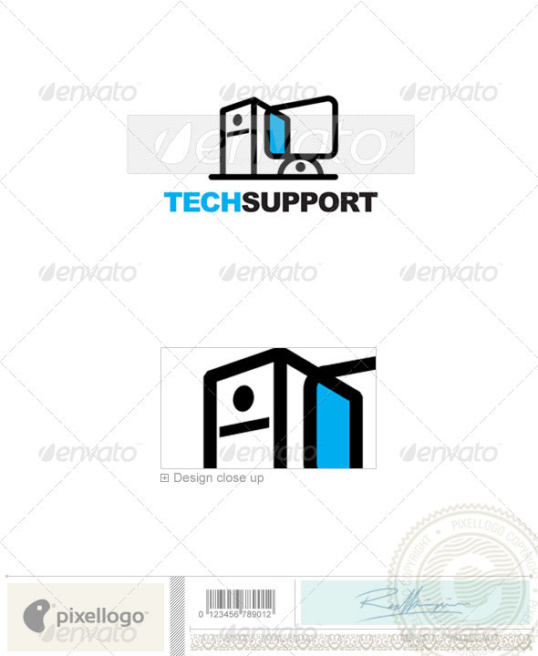 Technology Logo - 121 - Vector Abstract