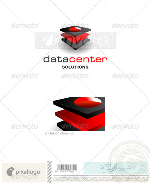 Technology Logo - 1192 - Vector Abstract