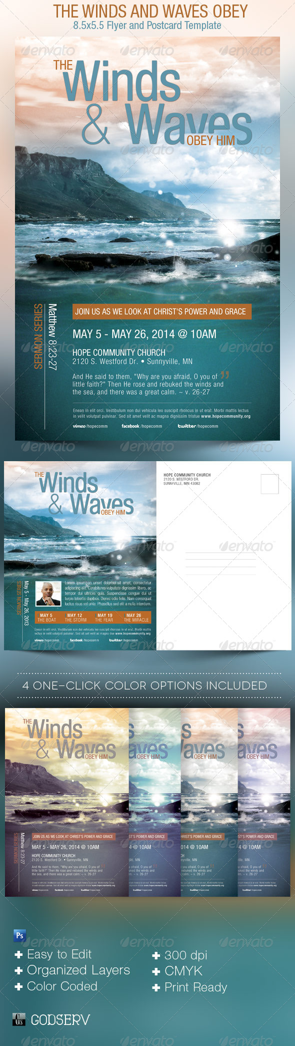Obey Church Flyer Template - Church Flyers