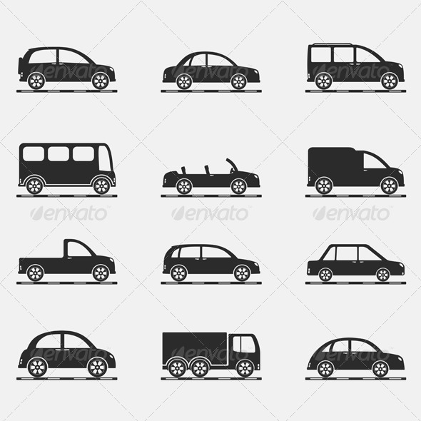 Car Icons - Miscellaneous Vectors