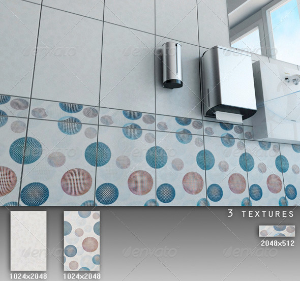 Professional Ceramic Tile Collection C049 - 3DOcean Item for Sale