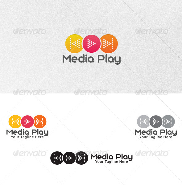 Media Play - Logo Template - Vector Abstract