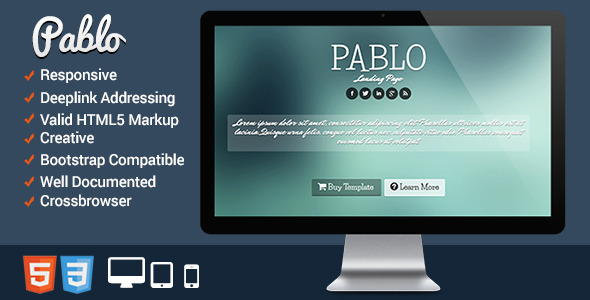 Pablo - Responsive Landing Page - Business Corporate
