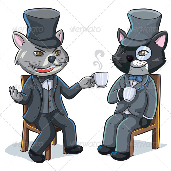 Double Cats - Animals Characters