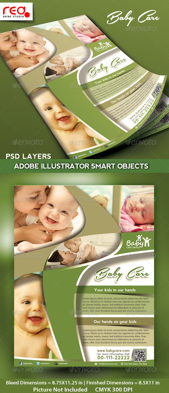 Kids Care Promotion Flyer/Poster Template - Commerce Flyers