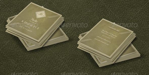 Small Retro Business Card  - Retro/Vintage Business Cards