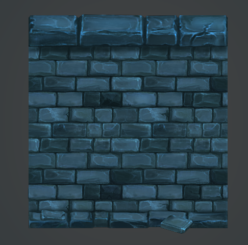low poly modular dungeon stone wall segment by playdesign